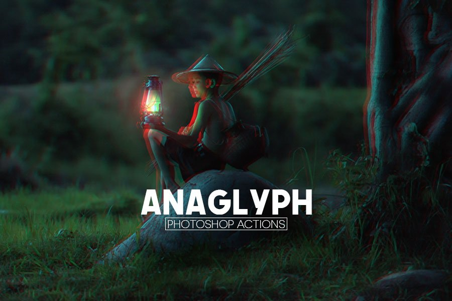 Free 3D Anaglyph Photoshop Actions - Creativetacos