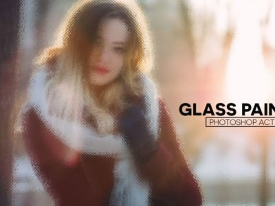 Free Glass Painting Photoshop Actions