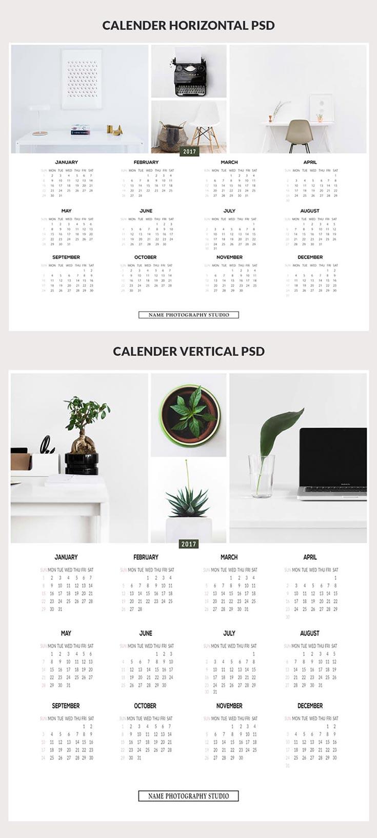 Minimalist Calendar Template : Free minimalist printable calendar psd templates
