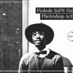 Free Pinhole B&W Halftone Photoshop Actions