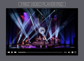 Free Video Player PSD Template