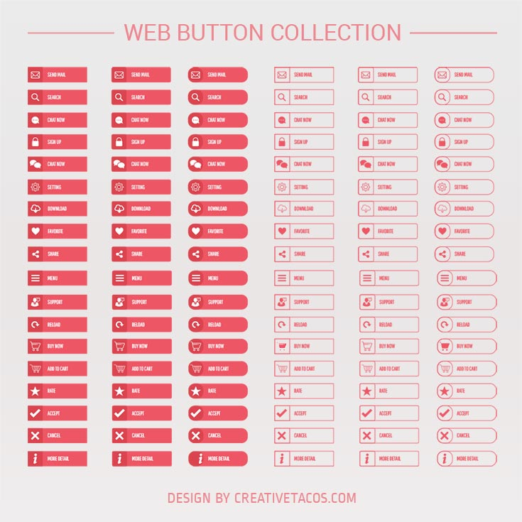 45 Free PSD #Web Buttons Collection For Your Next UI/UX Web Elements Need.