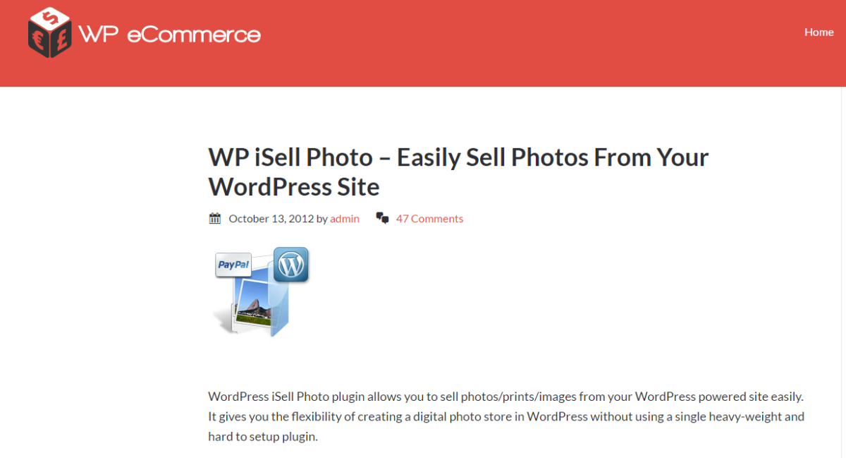 How to Sell Your Photos/Digital Products Using WordPress