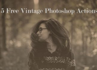 5 Free Vintage Photoshop Actions