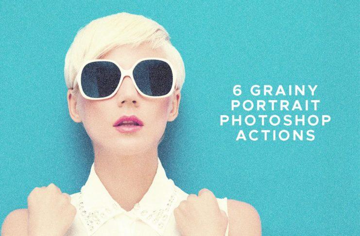 6 Free Grainy Portrait Photoshop Actions