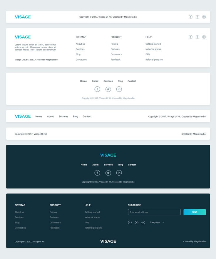 Visage UI Kit | FREE | 70+ Elements