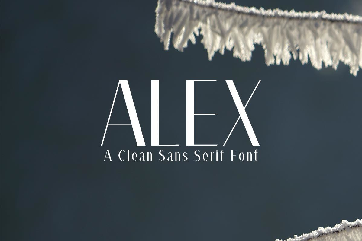 Free Alex Fashion Font