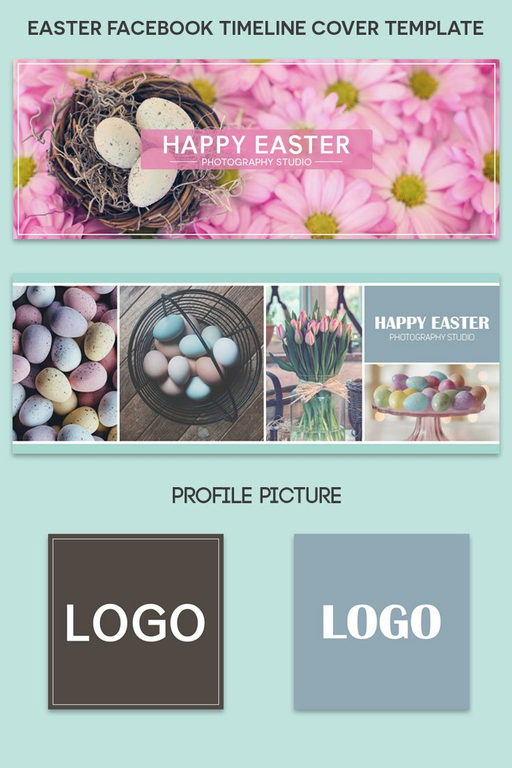 Happy Easter Facebook Timeline Cover