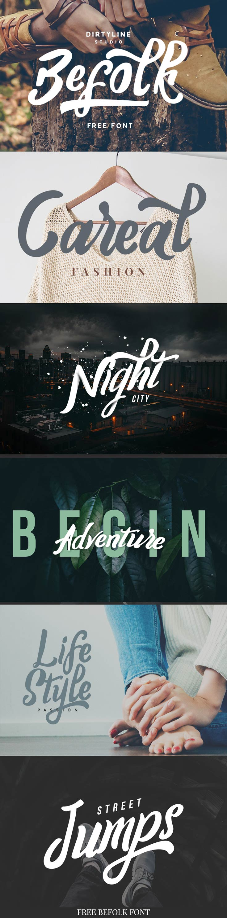 Befolk Brush Font