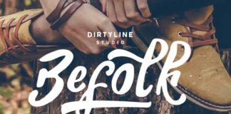 Free Befolk Brush Font