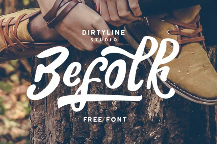 Free Befolk Brush Font