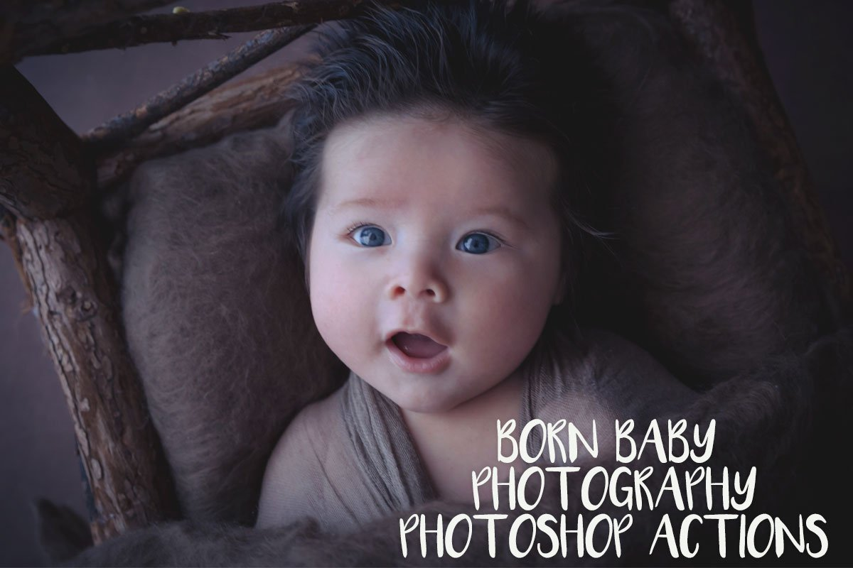 Free born baby photoshop actions
