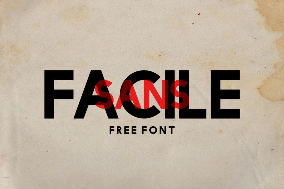 Free Facile Sans Serif Fonts