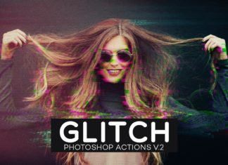Free Glitch Photoshop Actions V.2