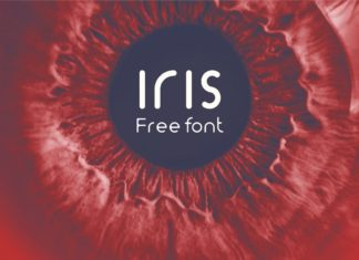 Iris Display Font