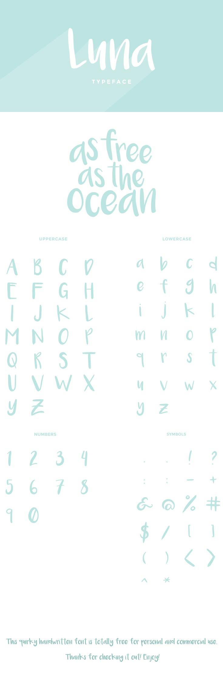 Free Luna Brush Font
