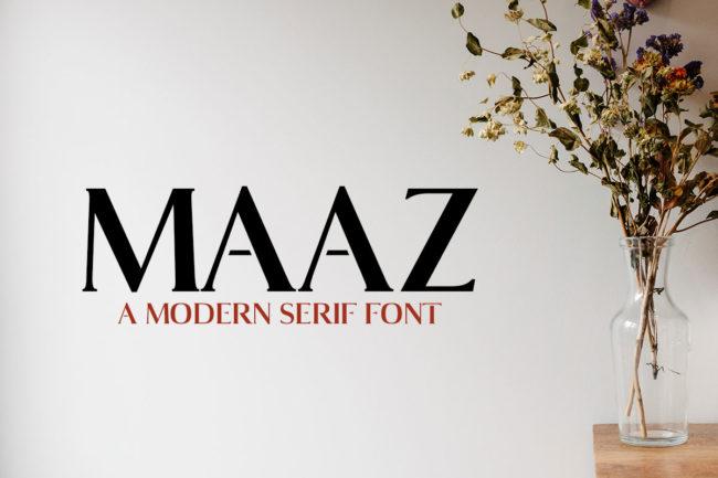Free Maaz Serif Demo Font