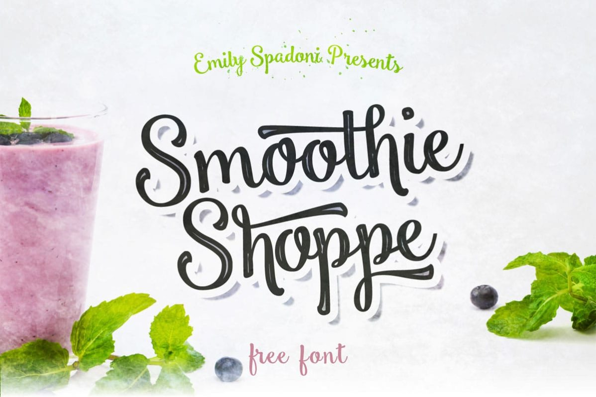 Free Smoothie Shoppe Script Font