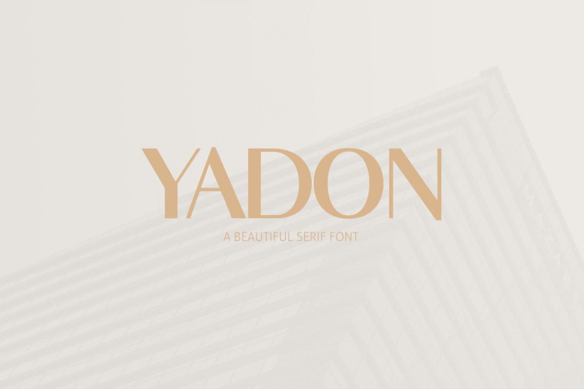 Free Yadon Serif Font