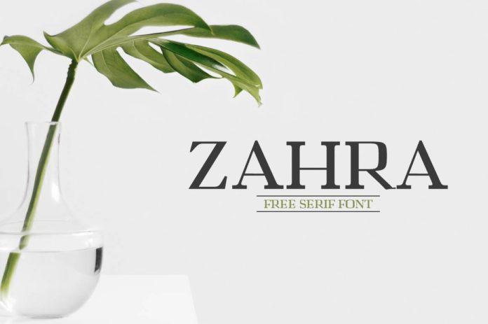 Free Zahra Serif Font