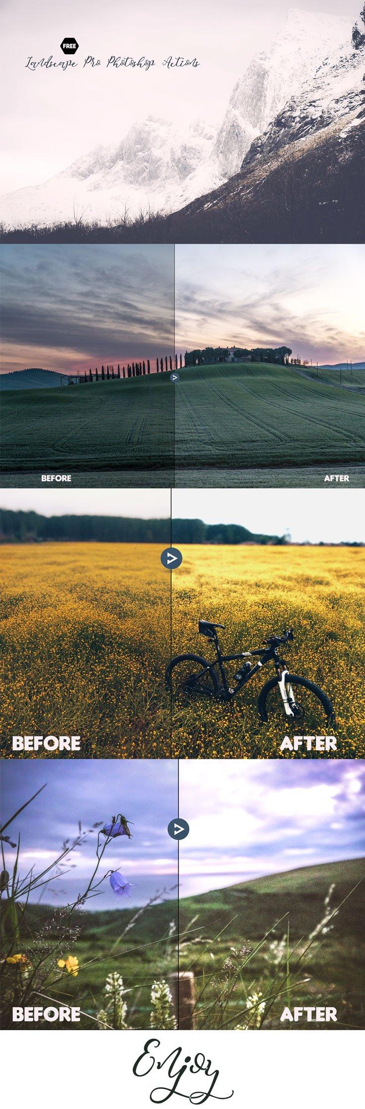 Free Landscape Pro Photoshop Actions