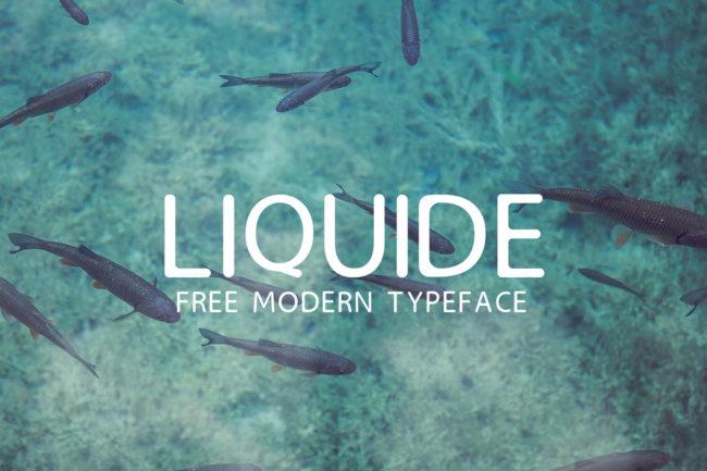 Free Liquide Typeface