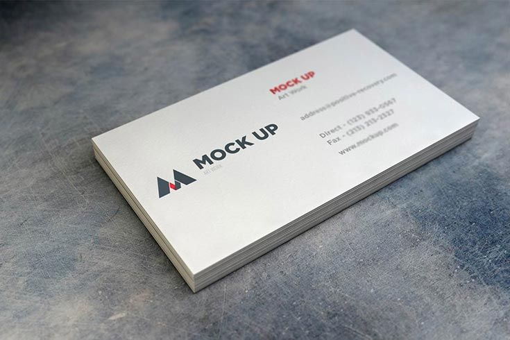 Free Realistic Business Card MockUp - V2