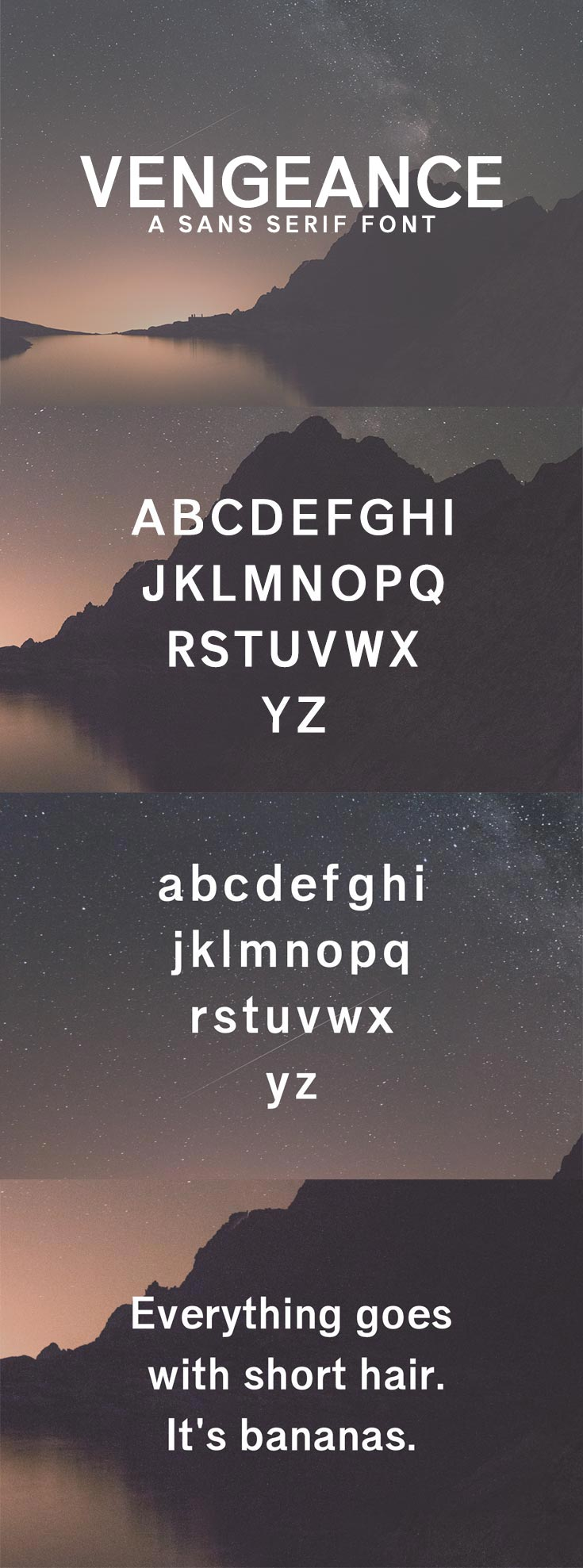 Free Vengeance Sans Serif Font
