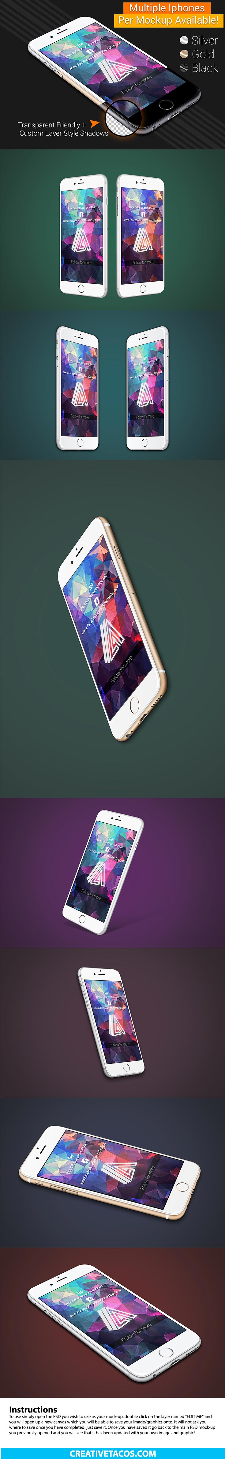 7 Free iPhone PSD MOCKUP