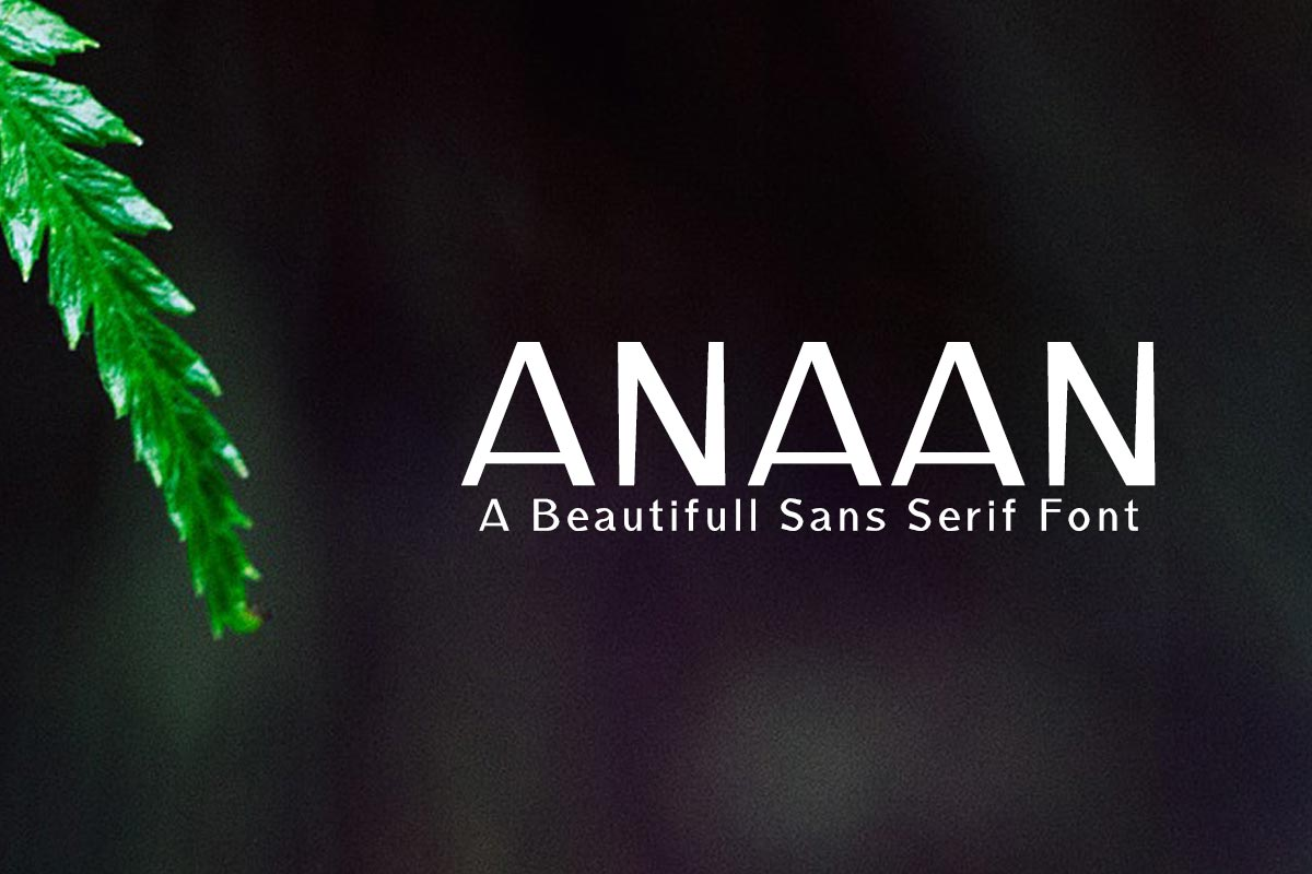 Free Anaan Sans Serif Font
