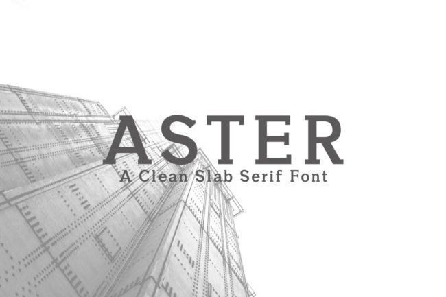 Aster Slab Serif Demo Font