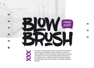 Free BlowBrush Creative Brush Font