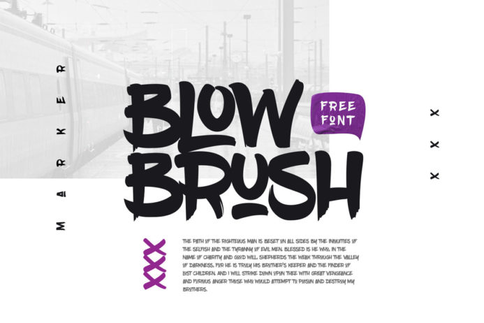 Free BlowBrush Creative Brush Font