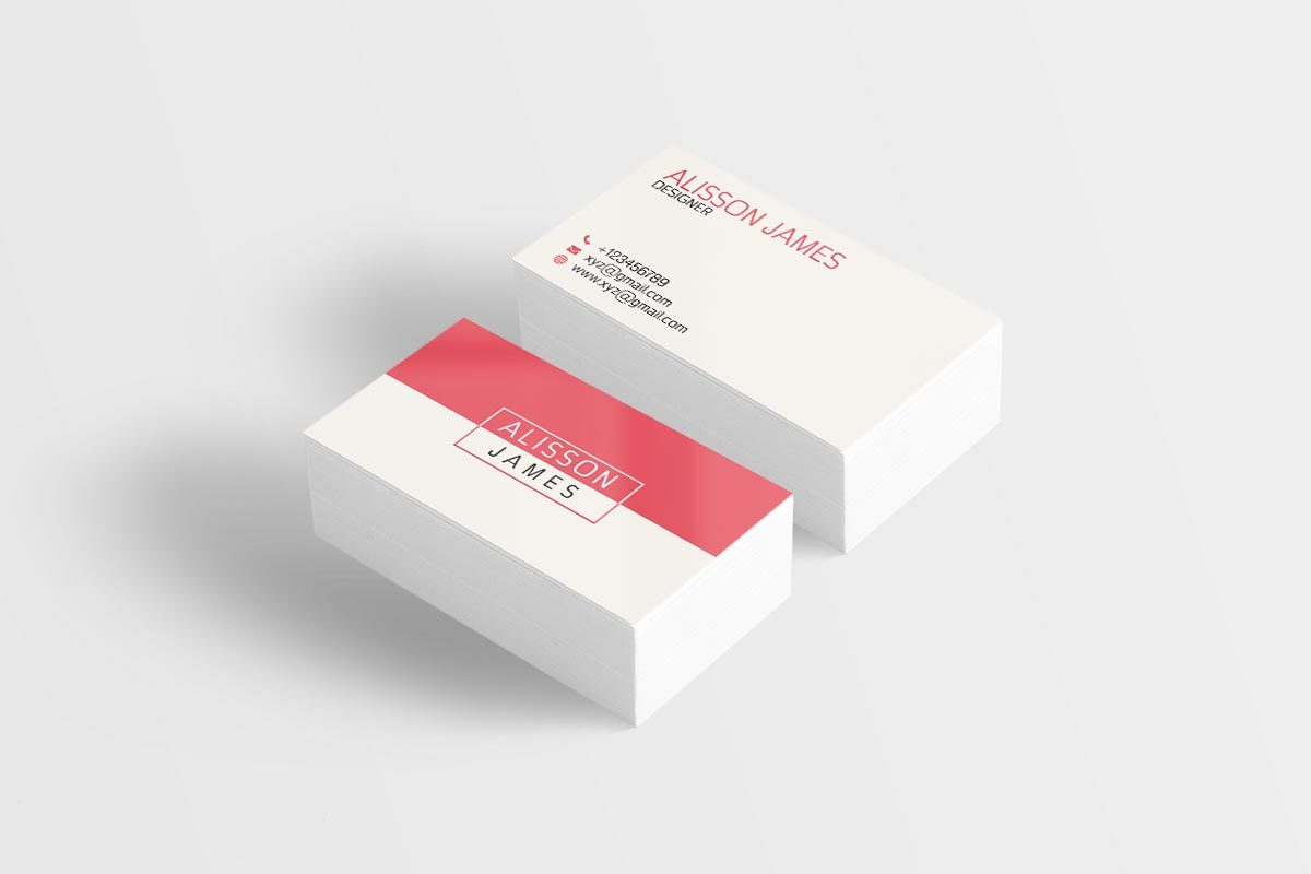 Free Minimal Business Card on Text Feature Freebie