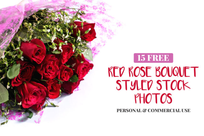 15 Free Red Roses Bouquet Styled Stock Photos