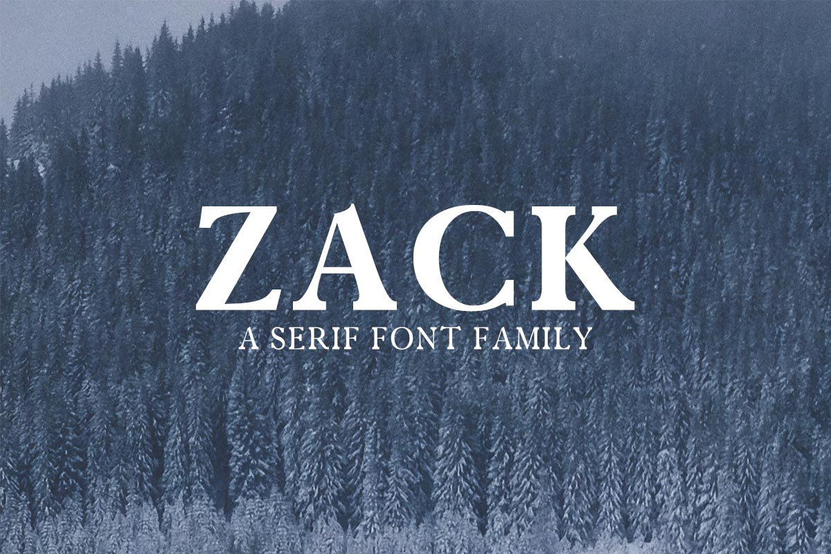 Zack Serif Demo Font