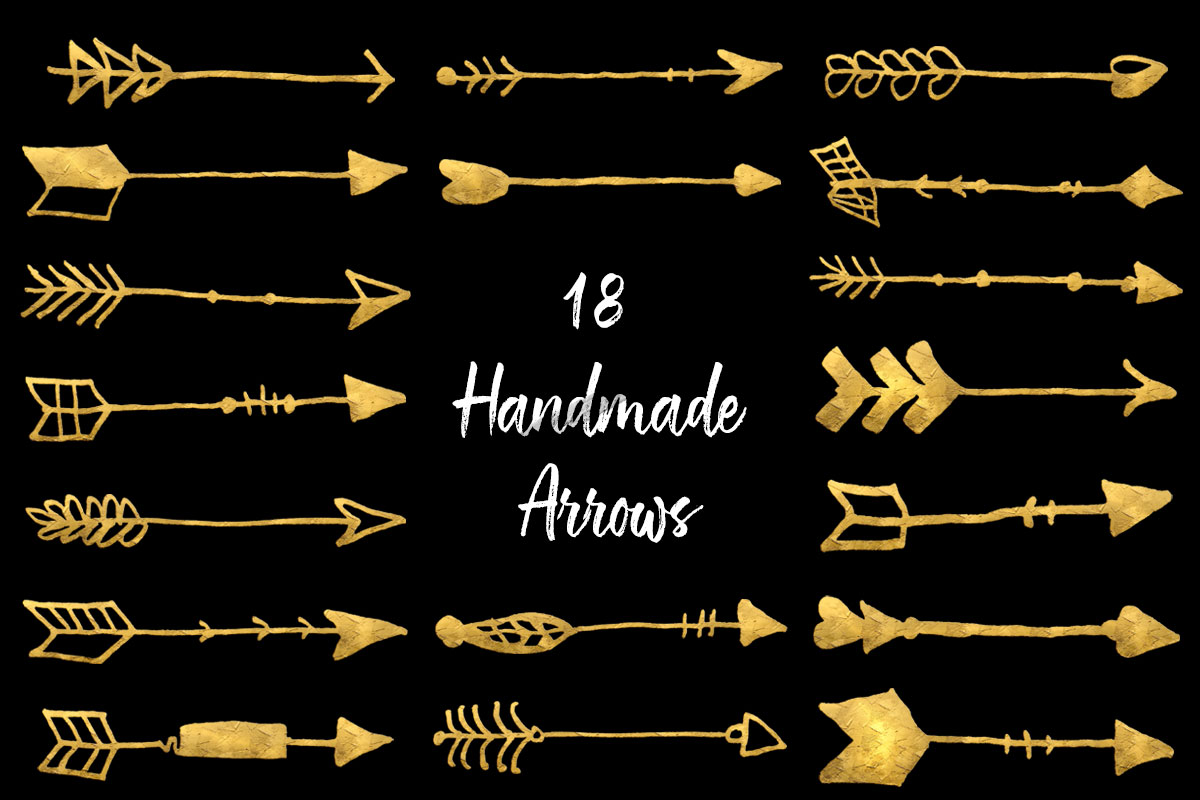 18 Free Handmade Arrows Brushes