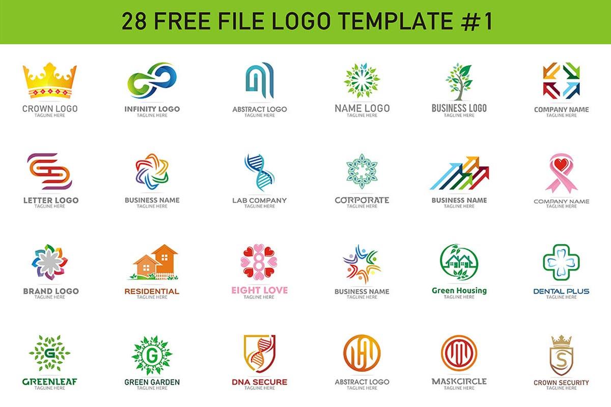 28 free modern color logo designs creativetacos for Design logo gratis