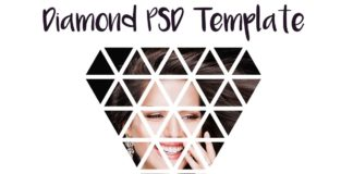 4 Free PSD Diamond Actions Template