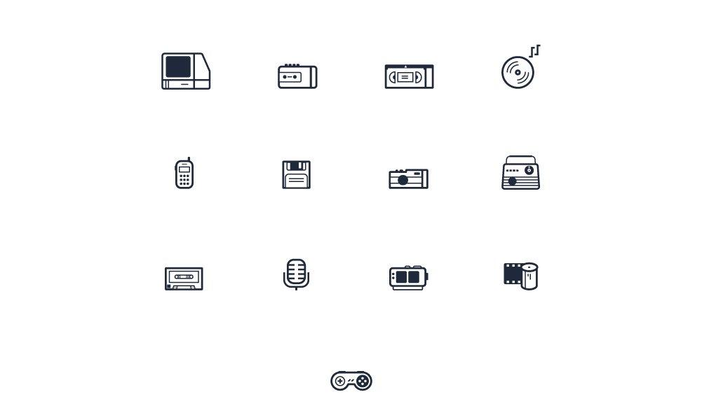 Free Retro Devices Icons
