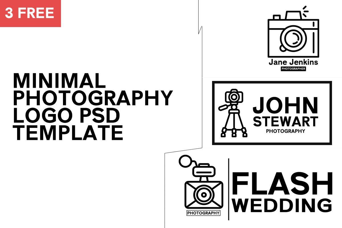 3 Free Minimal Photography Logo Template #1