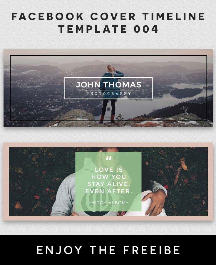 Facebook Cover Timeline Template 4