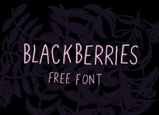 Free Blackberries Handwritten Font Typeface