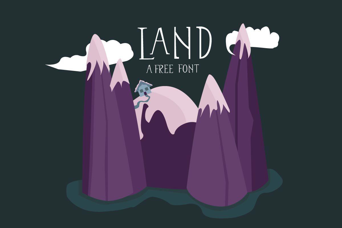 Free land display font creativetacos for Free land 2017