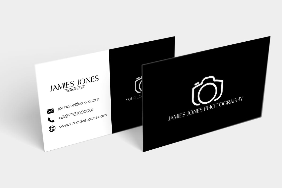 Free BW Minimal Business Card Ver. 2