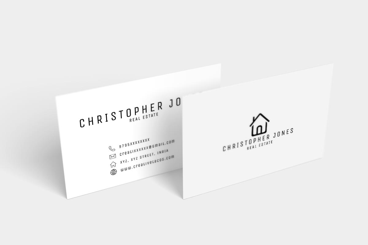 Free real estate minimal business card creativetacos free real estate minimal business card reheart Choice Image