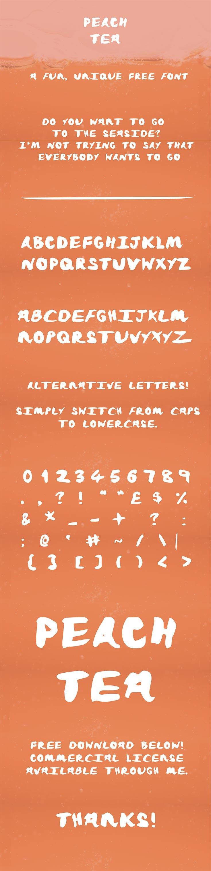 Free Peach Tea Handwritten Font