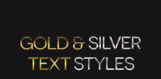 Gold Silver Text Styles