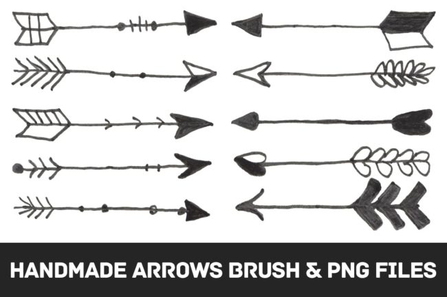 Free Handmade Arrows Brushes