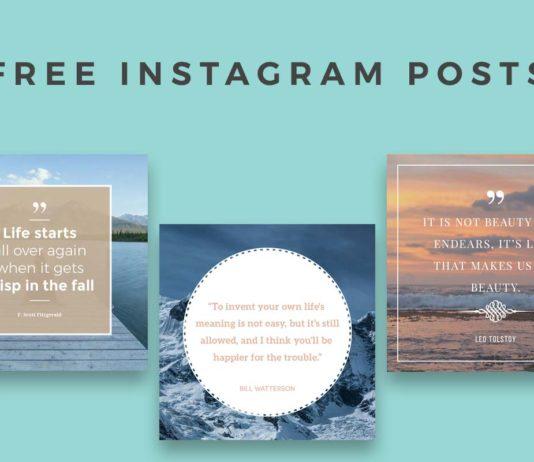 5 Free Instagram Posts